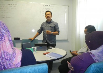 Motivational talk for the staff of Pharm Saintifik Sdn. Bhd.  in Kuala Lumpur, January 2013
